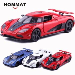 Image 1 - HOMMAT Simulation 1/32 Supercar Koenigsegg Agera R Sport Legierung 1:32 Gießt Druck & Spielzeug Fahrzeuge Autos Modell Autos Spielzeug Für Kinder