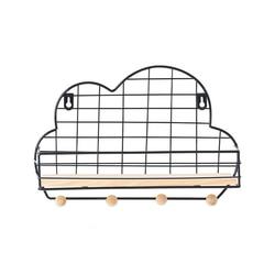 Chmura w kształcie wiszące na ścianie wyświetlacz siatka półka do przechowywania żelaza półeczki na drobiazgi organizator organizacja Rack rzemiosło home decor w Ozdobne półki od Dom i ogród na