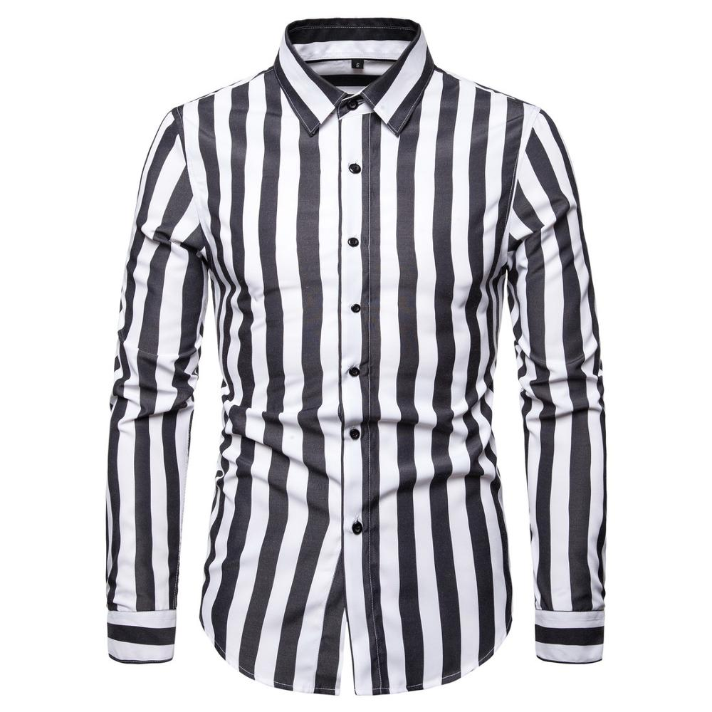 men shirt long sleeve  casual elegant cotton social dress man shirts 2