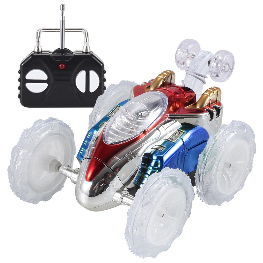 Radio-controlled Machine 360 Stunt Led Lighting Car Toy For Boy Girl Kid Christmas Gift Music Machine On The Control Panel