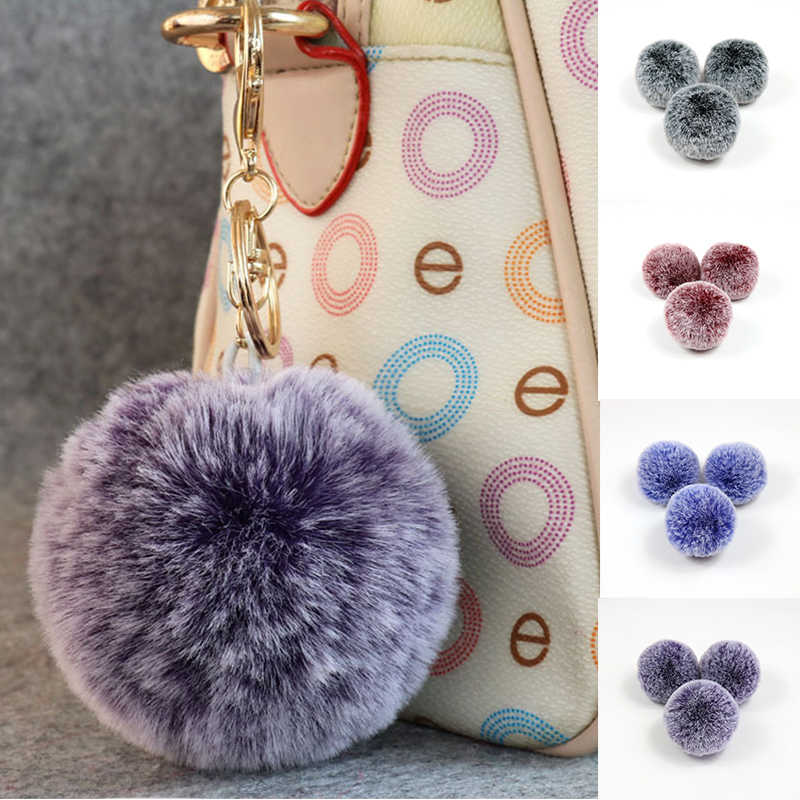 Faux Rabbit Fur Pompom Colorful Soft Pompons Useful Handmade Sewing Craft Supplies Women Caps Shoes Key chain Accessories