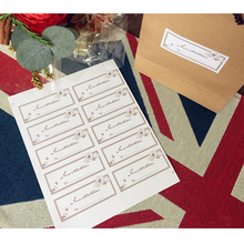 10packs/lot For Mutifunction DIY Decoration Invitation Card With Pure Gold Flower Gifts Package Labels Stickers For The Diary