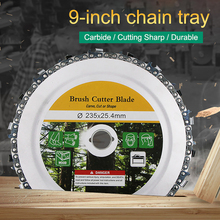 9 Inch 18 Teeth Chain Plate Angle Grinding Chain Disc Wheel Wood Carving Disc for Angle Grinder Steel Woodwork Tools
