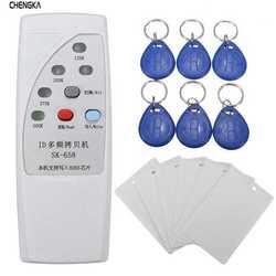 Ручной Rfid Card Reader-ручной устройство записи Rfid 13 шт 125 кГц карта Дубликатор с индикатором Дубликатор с 6 карты метки/комплект
