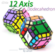 LanLan Puzzle Cube 12 Axis Dodecahedron Magic Cubes Megaminxeds Brain Teasers Specail Shape Educational Toys For Children