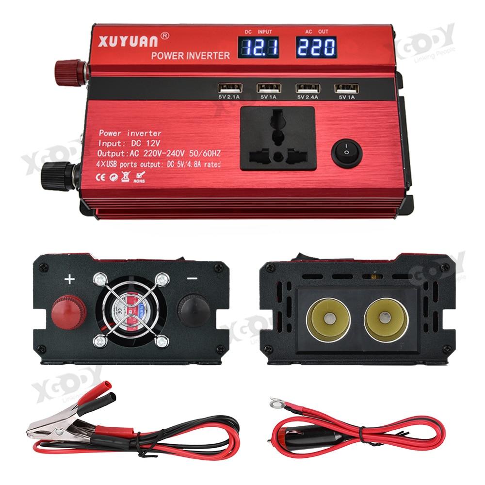 Essgoo 4 pièces USB 3000W Watt DC 12 V/24 V à ca 110 V/220 V Portable voiture onduleur chargeur convertisseur adaptateur onde sinusoïdale modifiée