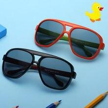 Модные детские солнцезащитные очки для девочек и мальчиков цветные