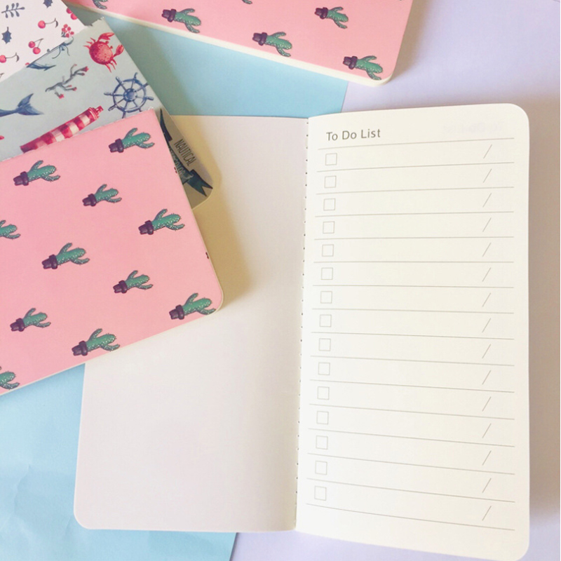 12pack lot To Do List Cactus Cherry Planner Notebook On Notepad Sketchbook Gift Stationery in Notebooks from Office School Supplies