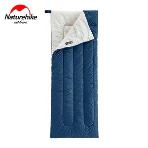 Ультралегкий прямоугольный компактный спальный мешок Naturehike, хлопковый водонепроницаемый однолетний, для отдыха на открытом воздухе и похо...