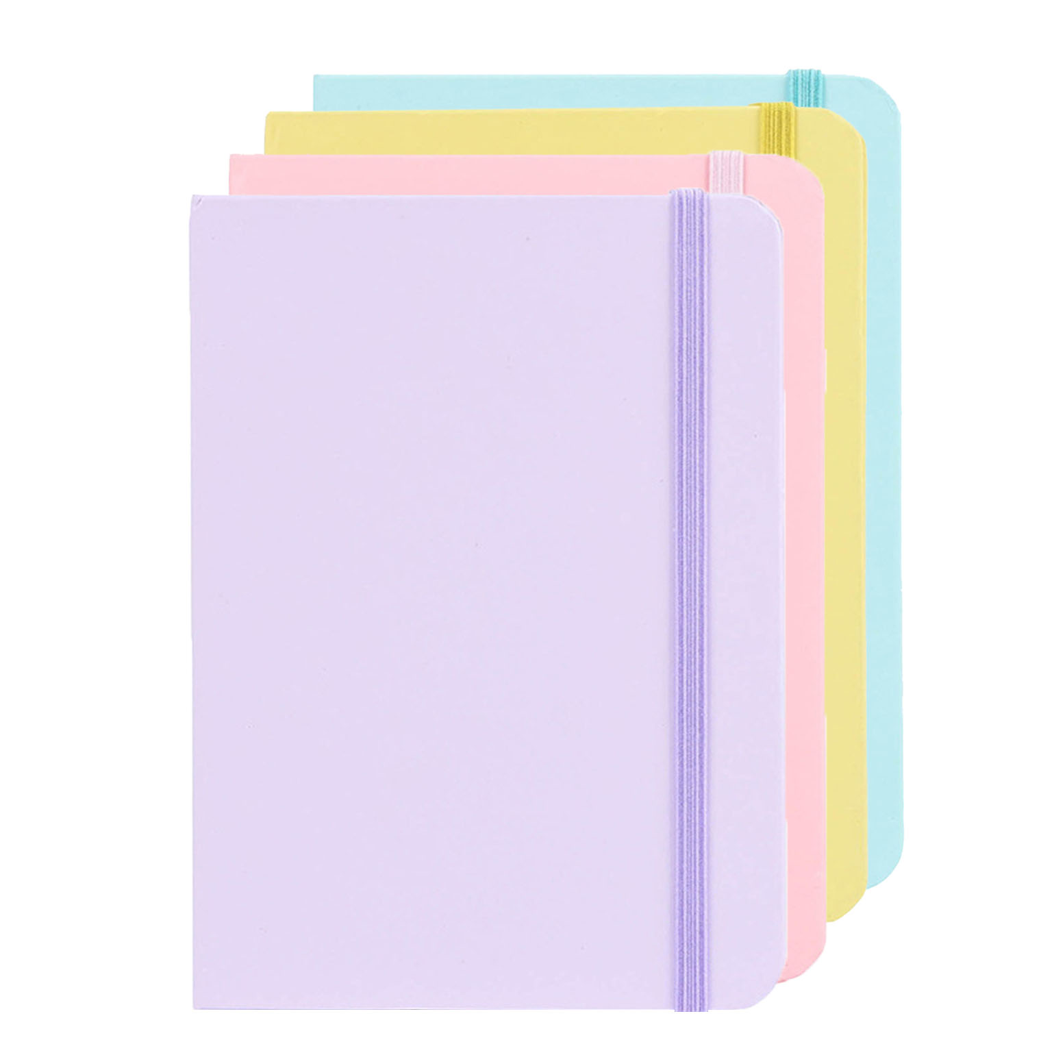 Pure Color A5 Hardcover Ruled Notebook Basic Macaron Notepad Student Journal Lovely School Office Supplies Cute Stationary