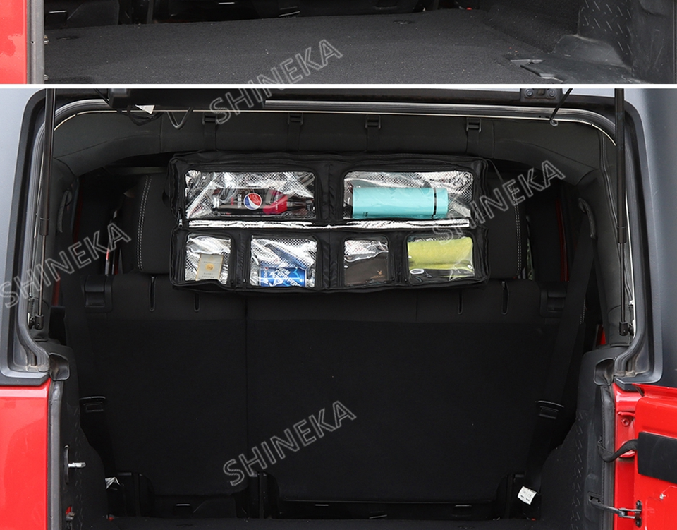 armazenamento saco bolso ferramenta organizador preto para jeep todo o carro
