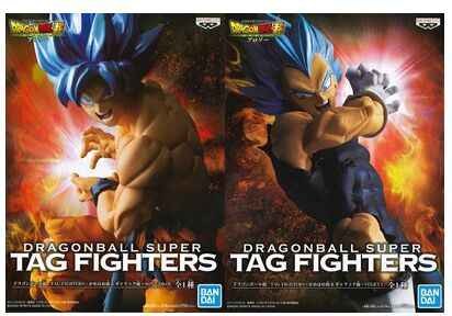 Original banpresto dragon ball super filme broly tag fighters goku vegeta ssj azul figura de cabelo brinquedos figura