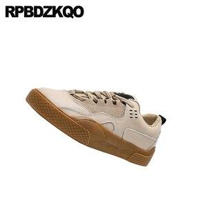 Image 3 - Zapatillas de piel elevador con cordones para mujer 2019 Casual suela gruesa zapatos Chatos con plataforma para mujer Creepers diseñador zapatos China Muffin entrenadores
