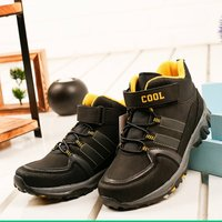 Boys Boots Shoes Spring Autumn Black PU Children's LeatherFashion Kids Warm Winter Rubber Waterproof Snow Rain Baby Water