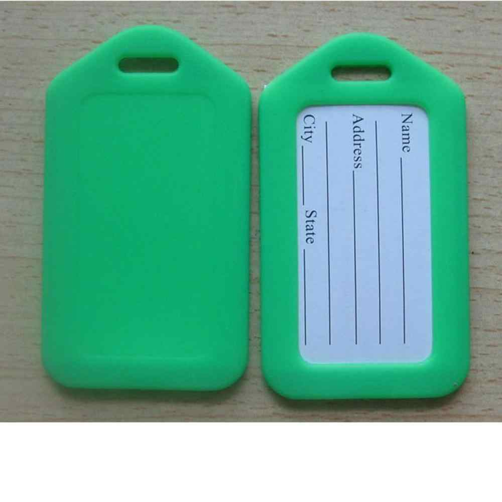 1pc Heißer Verkauf Zufällig Tags Etiketten Strap Name Adresse ID Koffer Tasche Gepäck Reise Gepäck