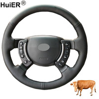 Hand Sewing Car Steering Wheel Cover Top Cow Leather Braid on the Steering wheel For Land Rover Range Rover 2003 2010 2011 2012