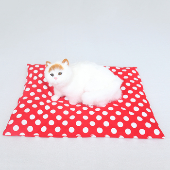 Red soft fabric pet blanket dog bed cat nest winter warm sleep bag home rug keep warm sleeping cover image