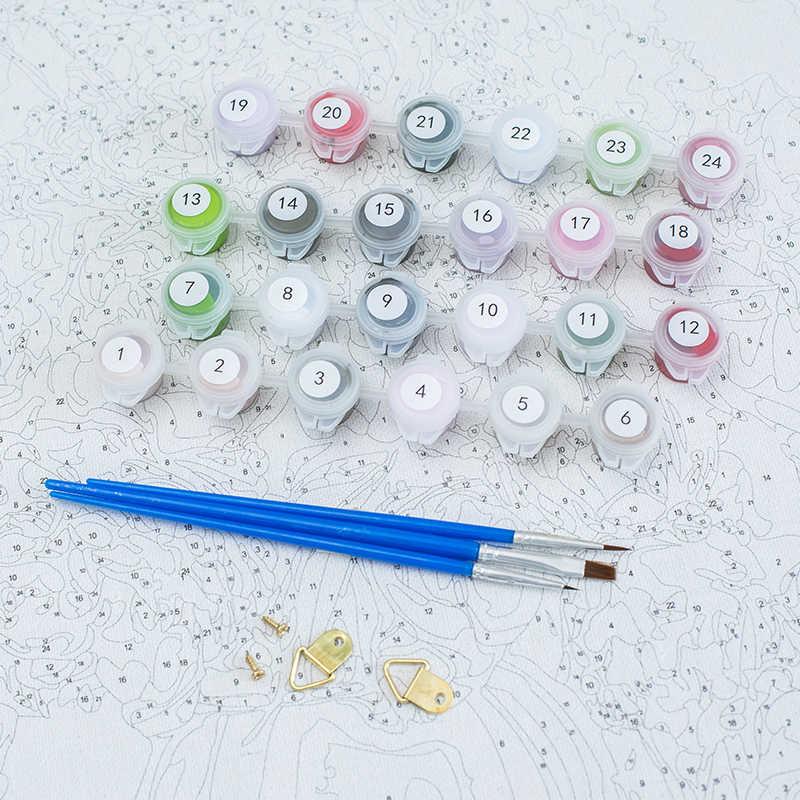 Gatyztoire peinture à la main par numéros animaux modernes Figure peinture à l'huile peint à la main toile dessin décor à la maison cadeau