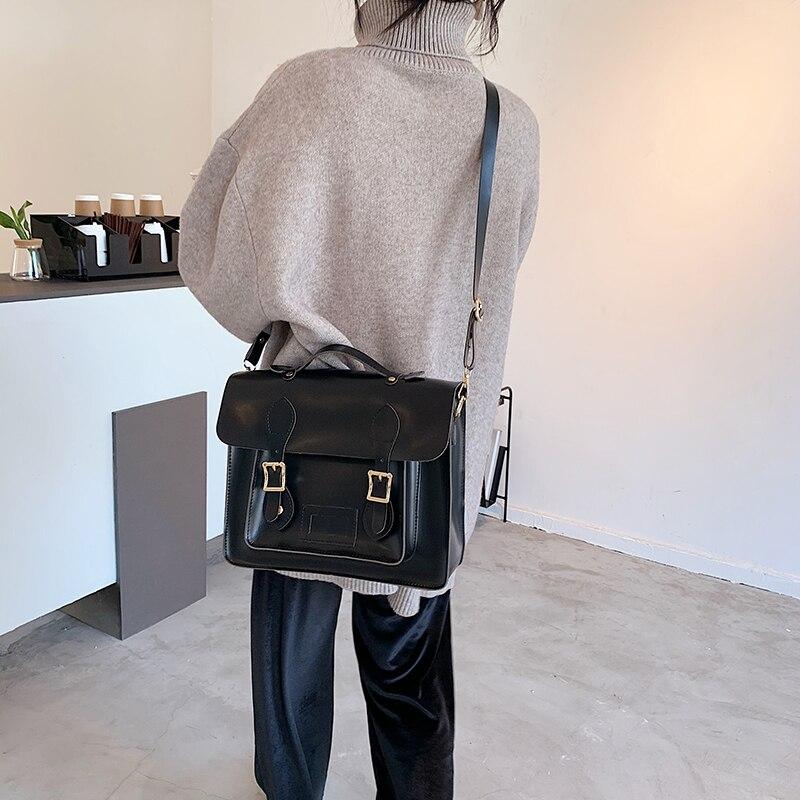 Vintage Leather Backpack and Shoulder Bag 2