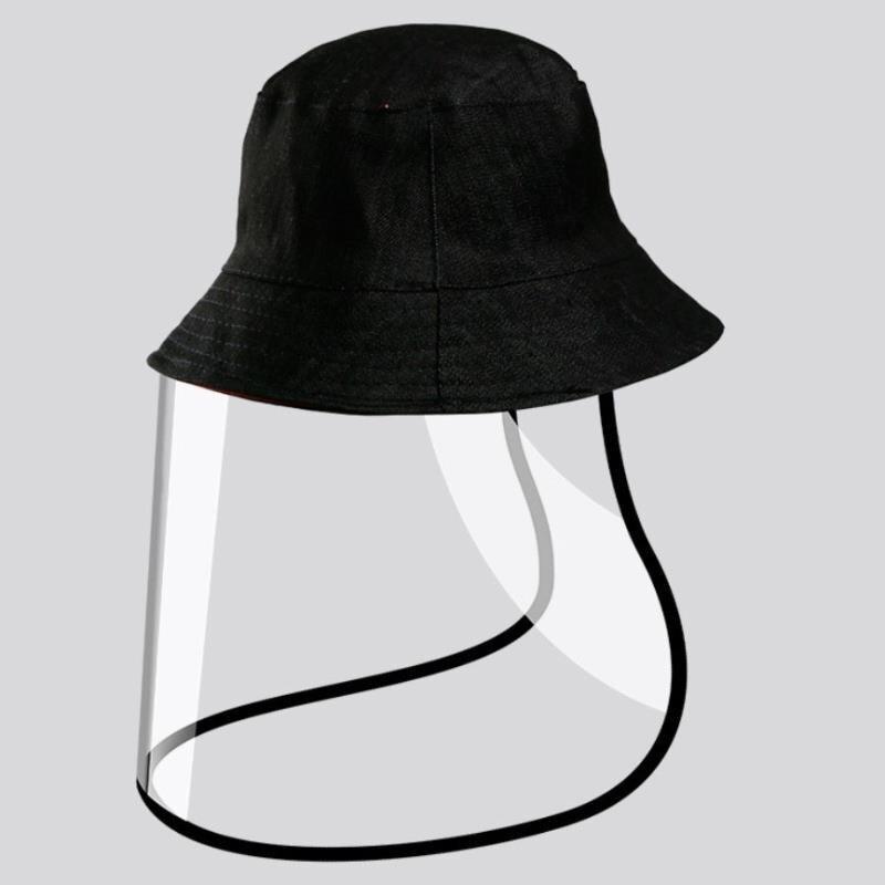 Proteção Preto Cap Pescador Chapéu Máscara Anti-vírus