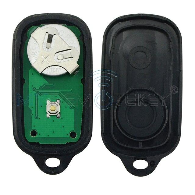 Télécommande voiture clé fob 3 bouton avec panique pour Toyota Camry Solara Corolla Sienna 2002 2003 2004 2005 2006 315mhz GQ43VT14T remtekey