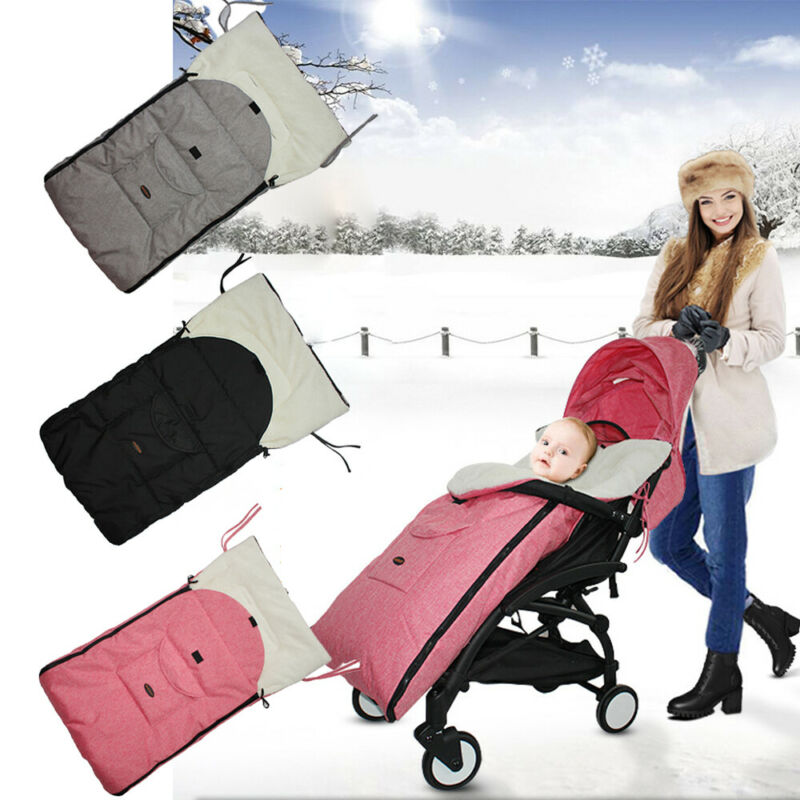 Baby Stroller Sleeping Bag Envelope Winter Linen Winter Windproof Warmn Fleece Slaapzak Newborns Travel Swaddle Sleep Sack