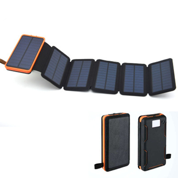 Solar power bank Folding Solar panel charger outdoor solar panel camping hiking solar charger battery 4