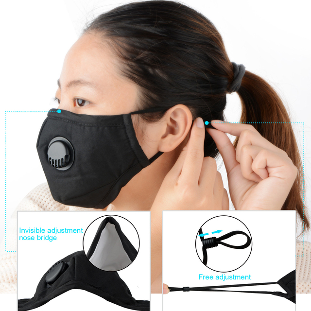 Wholesale 10/20/50/100 Filters Protective Face Mask Thick Dust Haze Particles Anti Dust Smoke PM2.5 Washable Reusable Mask 1