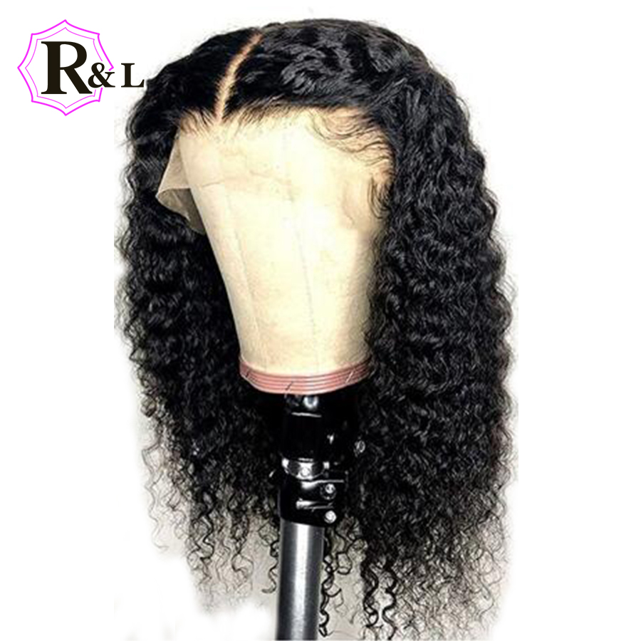 RULINDA Short Curly Lace Front Human Hair Wigs Pre Plucked With Baby Hair 13*4 Brazilian Non Remy Hair Bob Lace Wigs For Women-in Human Hair Lace Wigs from Hair Extensions & Wigs