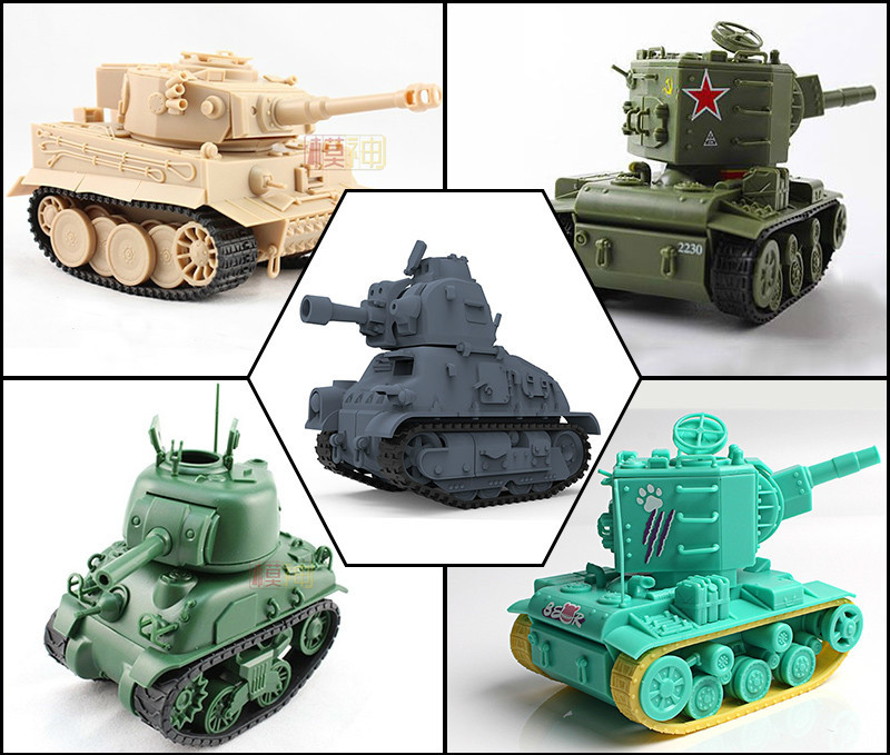 Tiger <font><b>Tank</b></font> <font><b>Model</b></font> Military Vehicles DIY Kits Plastic <font><b>Tanks</b></font> <font><b>T34</b></font> Sherman KV2 Tiger 99A Tiger King Assembly Modelling Toy Car image