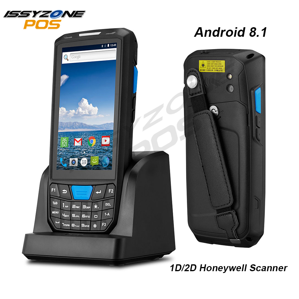 IssyzonePOS Handheld PDA Android 8.1 Rugged POS Terminal 1D 2D Barcode Scanner WiFi 4G Bluetooth GPS PDA Bar codes Reader title=
