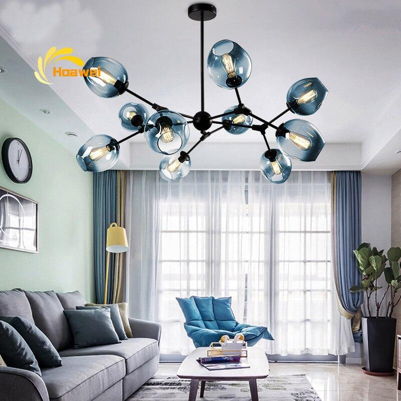 Multiple Glass Heads LED Chandelier Lighting Chandeliers