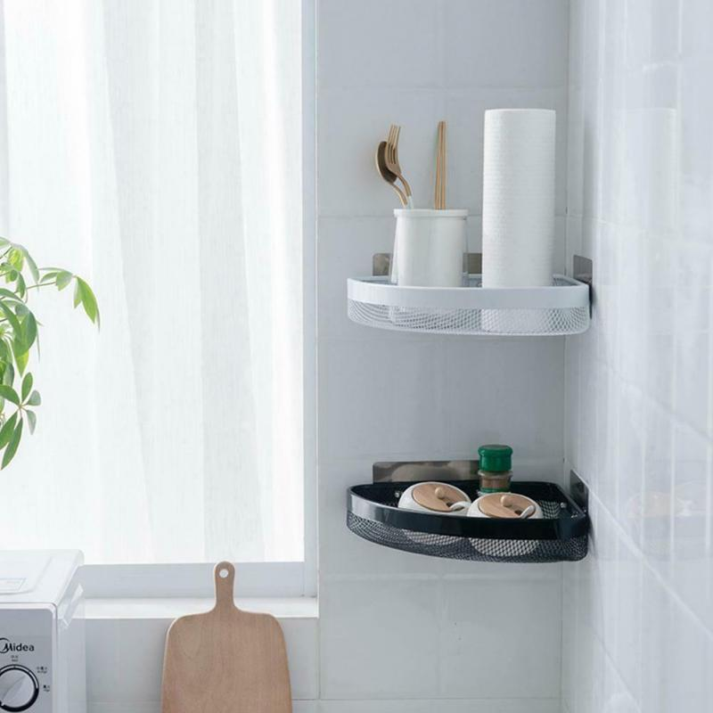 Punchless Triangle Wall Corner Shelf