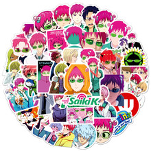 Teruhashi Decal-Decor Scrapbook Cartoon Stickers Saiki Anime Disastrous-Life Waterproof