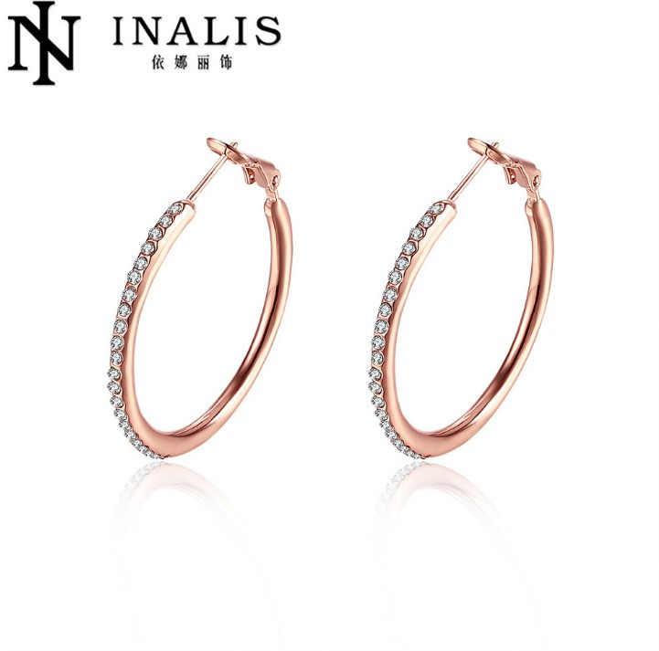 2020 rond limité Brincos gros mode femmes bijoux 925 boucles d'oreilles gouttelettes d'eau Design bricolage cristal de swarovski charme