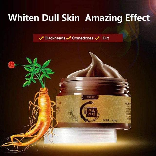 120ml Herbal Beauty Peel-off Mask Tearing Shrinks Pores Mask Remove Blackheads Acne Brightening Herbal Ginseng Face-pack Unisex 1