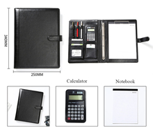 Document Organizer Folder A4 Spiral Notebook With Calculator 4 Ring Binder Manager Briefcase Office Portfolio Bag Hand Clip File