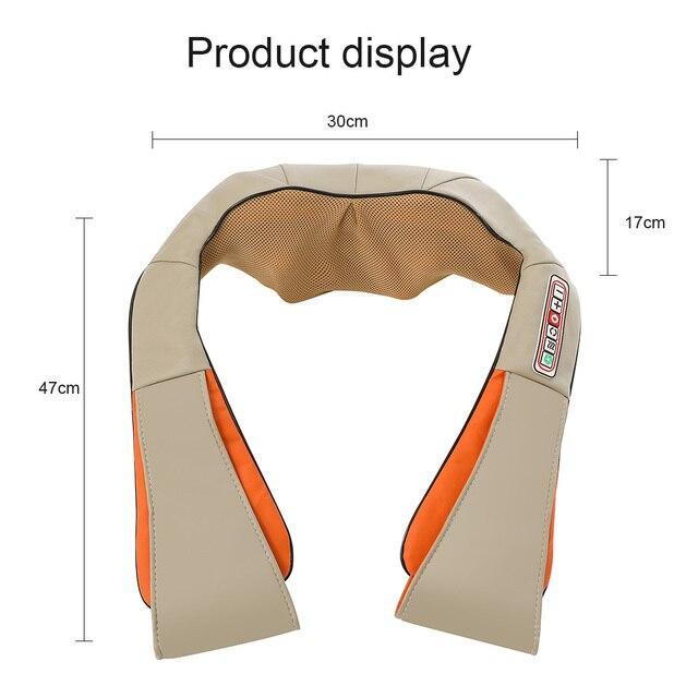 U Type Electrical Car/Home Massage Shiatsu Back Shoulder Neck Massager Multifunctional Shawl Infrared Heated Kneading Massager 5