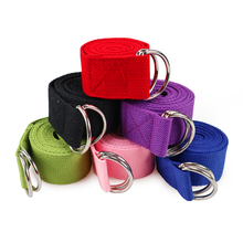 Women Yoga Stretch Strap Multi Colors D Ring Belt Fitness Exercise Gym Rope Figure Waist Leg Resistance Fitness Bands Yoga Belt