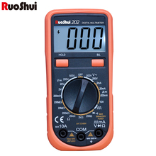 RuoShui mini family Digital Multimeter 2000 counts Ranging AC/DC voltage DC Current and Resistance Square Wave output Multimetro