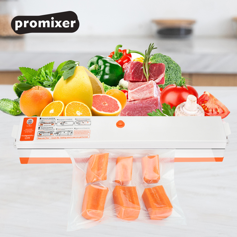 Household Food Vacuum Sealer Mini Automatic Packing Machine With 15 Pcs Bags Free