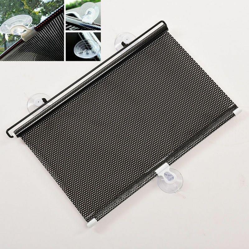 Auto Car Black Window Roll Blind Sunshade Windshield Sun Shield Visor 58 x125cm MOLE