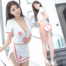 Lenceria Porno Sex Nurse Clothes Babydoll Underwear Lingerie Femme Sexy Hot Erotic Nurse Maid Dress Costumes langerie Mini Skirt(China)