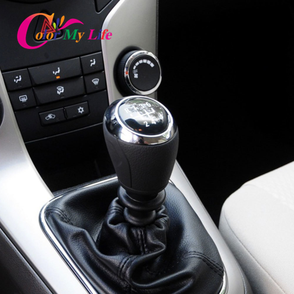 cheapest Color My Life Manual 5 6 Speed Gear Shift Knob Gear Head Knobs for Chevrolet Cruze Sedan Hatchback 2008 - 2014 Replacement Parts