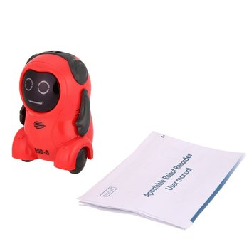 DDG-3 Intelligent Smart Mini Pocket Voice Recording RC Robot Recorder Freely Wheeling 360 Rotation Arm Toys for Kids Gift image