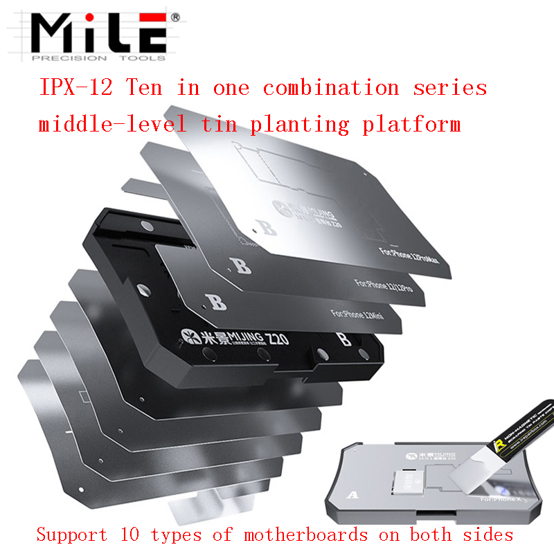 Tools : MiJing Z20 10 in 1 Middle Layer Reballing Platform For iPhone X XS XSMax 11 11 Pro 11 Pro Max 12mini 12 12 Pro 12 Pro Max Repair