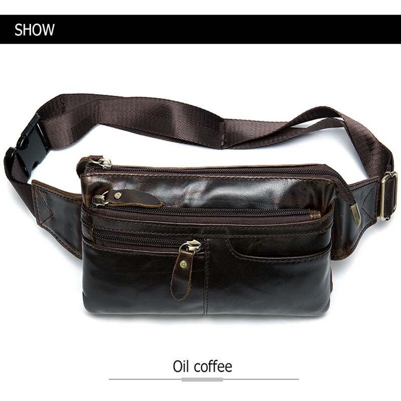 Bandolera para hombre, marrón oscuro, bolso de pecho diario, de alta calidad, de gran capacidad, bolso de hombro de cuero dividido para iPad nuevo - 3
