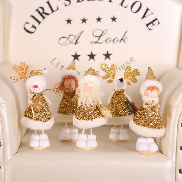 New Year 2020 Merry Christmas Ornaments Christmas Angel Elf White Christmas Decorations for Tree Toy Xmas Decor Swiateczne Natal 17