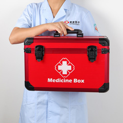 Kit d'urgence domestique haut de gamme | Boîte médicale professionnelle pour visite à domicile, Kit de premiers secours Intelligent pour le stockage des médicaments en Aluminium