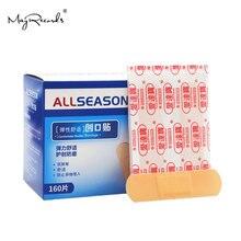 Купить с кэшбэком Free Shipping 160PCs/Box Waterproof Breathable Antibacterial Band Aid Super Thin Soft Bandages Anti-scratch Hemostatic First Aid